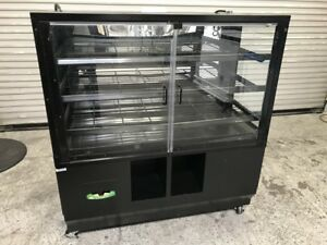 48 Dry Glass Bakery Display Case Marco 8075 Donut Bagel Bread Cabinet Rack