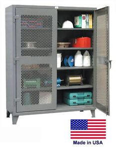 Steel Cabinet Commercial industrial Ventilated Lockable 78 H X 24 D X 48 W