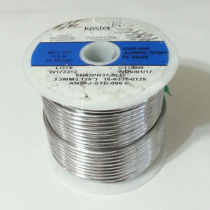5lbs Kester Solid Solder 63 37 63 tin 37 lead 125 Stained Glass 16 6337 0125