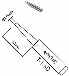 Aoyue T 1 6d Soldering Iron Tip Chisel Type For Aoyue Lukey Atten Solder Station
