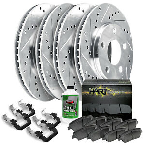 Full Kit Platinum Hart Drilled Slot Brake Rotors And Ceramic Pad Phcc 6210502