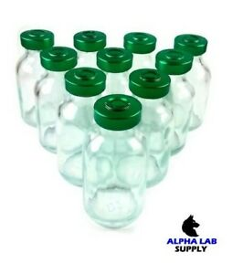 Alpha Lab Supply 20ml Sterile Clear Glass Vials 5 Pack Free Shipping
