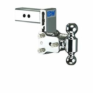 B W Ts20037c Tow Stow 2 Ball Mount Hitch 5 Drop 4 5 Rise Chrome