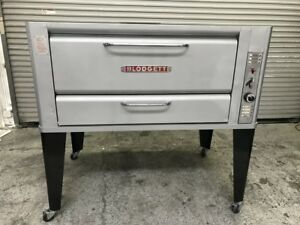 60 Pizza Oven Single Deck Natural Gas Blodgett 8071 Commercial Restaurant