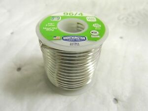 Worthington 96 4 Lead Free Solder Tin Silver 0 1180 Diam 331863