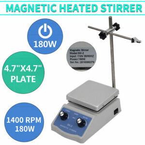 Sh 2 Hot Plate Magnetic Stirrer Dual Control Heating Plate Stir Bar 1600 Rpm Usa