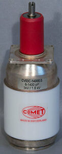 Comet Pct Cv03c 1400e 3 8 1400 Pf 3 Kv Vacuum Variable Capacitor