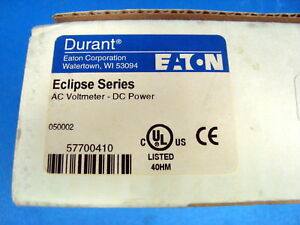 Eaton Eclipse Ac Volt Panel Meter Dc Power 9 30vdc 57700410