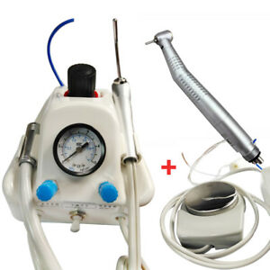 Portable Dental Turbine Unit Work W Air Compressor 1 Led High Speed Handpiece