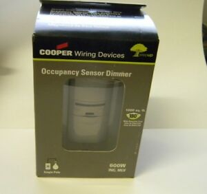 Cooper Wiring Devices 1 000 Sq Ft Infrared Sensor Wall Switch Os106d1 gy