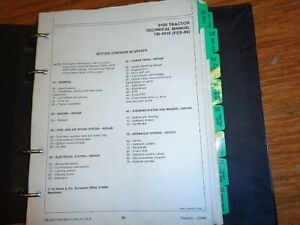 John Deere 3150 Tractor Technical Service Repair Manual Tm4410 In Binder Oem