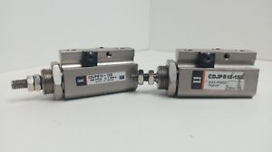 Lot Of 2 Cylinder Smc Pneumatic Cdjpb15 15d 0 7mpa
