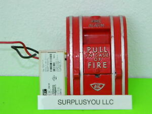 Est Edwards Signaling 270 spo Fire Alarm Pull Station W M501mf Module Included