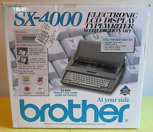 Brother Sx 4000 Electronic Lcd Display Typewriter With Dictionary Mint In Box