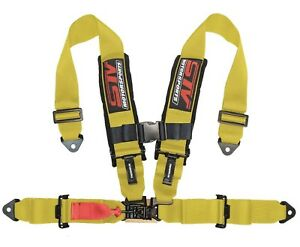 Stv Motorsports Safety Seat Belt Harness Yellow 4 Point 3 Rzr Xp Razor Racing