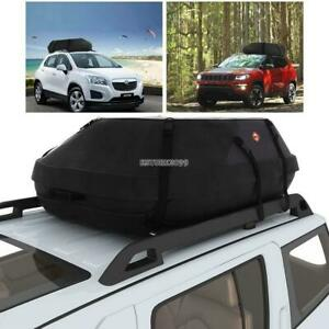 Travel Waterproof Cargo Roof Top Carrier Bag Rack Storage Luggage Car Rooftop