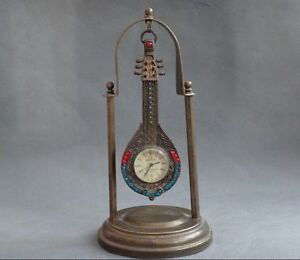 China Collected Bronze Statue Carved The Pipa Mechanical Clocks And Watches