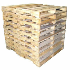 10 Recycled Wood Pallets b 48 X 40 4 way Shipping Available read