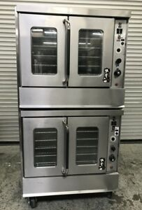 Double Stack Gas Convection Ovens Montague 115a 8022 Commercial Bakery Oven