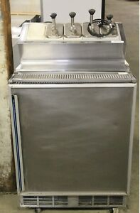 Single Door Freezer With Ice Cream Topping Station
