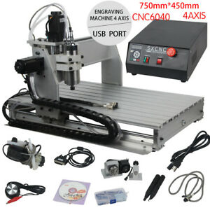 4 Axis 6040 Cnc Router Engravering 1 5kw Water cooled Vfd Drilling Milling Usa