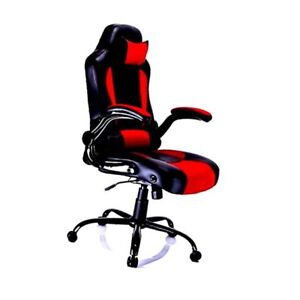 Aminiture Reclining Racing High Back Pu Leather Swivel Chair Computer Desk