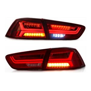2x Red Rear Lamp Led Tail Light For 2008 2017 Mitsubishi Lancer Evolution Evo X