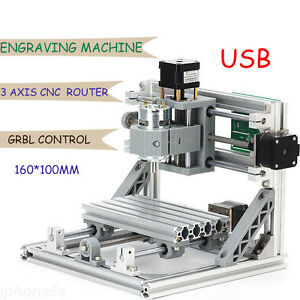 Usb 3 Axis Mini Cnc Router Milling Wood Engraving Machine Printer Laser Engraver
