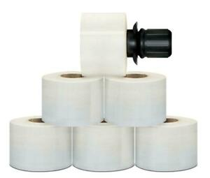 3 X 1000 80 Ga Extended Core Stretch Wrap Film 54 Rolls Black Spinner Handle