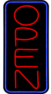 Jumbo Led Open Sign Yellow Blue 32x16 Very Bright bd32b 1 Plus Remote