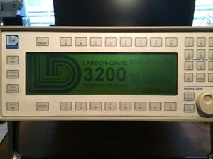 Larson Davis 3200l 4 Audio Acoustic Real Time Frequency Spectrum Analyzer Rta