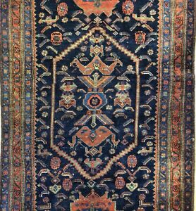 Beautiful Bijar 1900s Antique Kurdish Runner Persian Rug 4 5 X 9 4 Ft