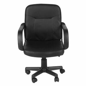 Turntable Rotation Chair Executive Adjustable Height Chair Pu Leather Officedesk
