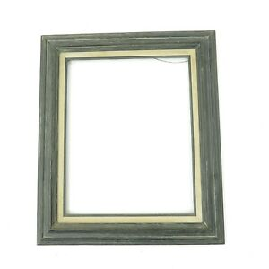 Vintage Large Mid Century Modern Gray Wash Frame Fits 16x20 Art