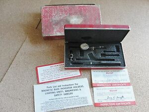 Vintage Starrett Last Word 711 fs Indicator Case Box Range 030 Reading 001