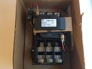 Ge Size 4 Motor Starter Cr306f0 600 480 230 208 Volts With 120 Volt Coil