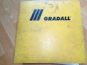 Gradall G3wd Excavator Factory Shop Service Operation Manual In Binder Oem