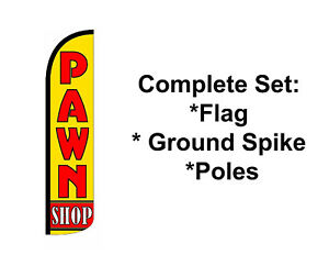 Pawn Shop Swooper Flag 15 Kit Feather Flutter Store Banner Sign on Sale
