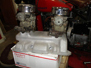Buick Nailhead Rare Edmunds Intake 2 2 Carburetors Vintage Hot Rod 264 322