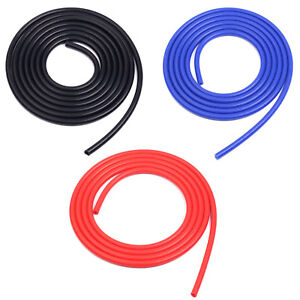 3x 20 Feet 6 Meter Black Blue Red Silicone Vacuum Hose Id 3 16 5mm Racing Tube