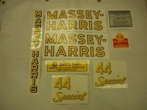 Massey Harris 44 Special Tractor Decal Set New Free Shipping