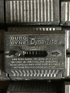 Box Of 10 Duro Dyne Cl23 wc6 Dyna tite 1 8 3 16 Cable Lock 640 Lb Max Load