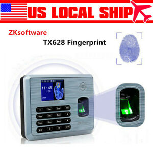 Zksoftware Tx628 Tcp ip Fingerprint Time Attendance Zk Fingerprint Time Clock