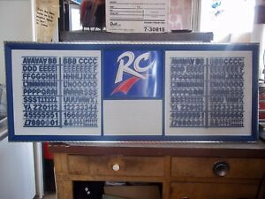 New 4ft Rc Cola Menu Board Sign W Letter Number Sets
