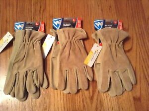Westchester Oil Block Leather Heavy Duty Work Gloves Mens Large 3 Pair New