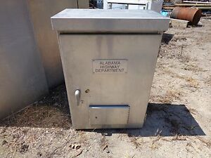 Small Aluminum Traffic Control Cabinet Outdoor Electrical Cabinet Rain Tight