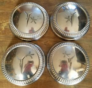 1960 Plymouth Dog Dish Hubcaps Set Of 4
