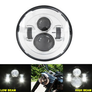 7 Round Led Daymaker Motorcycle Projector Headlight 12 24v Fit For Honda Harley