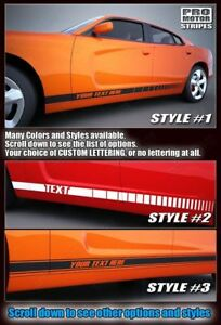 Dodge Charger Rocker Panel Side Accent Stripes Decals 2015 2016 2017 2018 2019