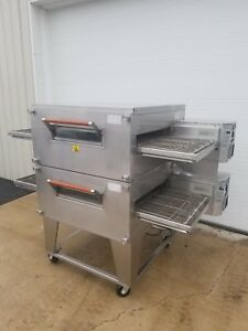 Xlt Model 2440c Double Stack Gas Pizza Oven 24 Belt Width